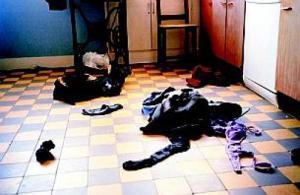 vêtements par terre